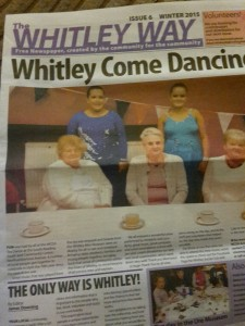 Cover page of the most recent Whitley Way newspaper.