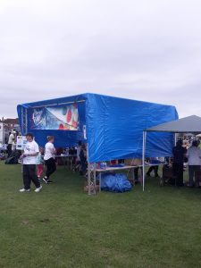 Entrance to the popular fun day.