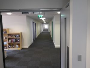 Inside the new block